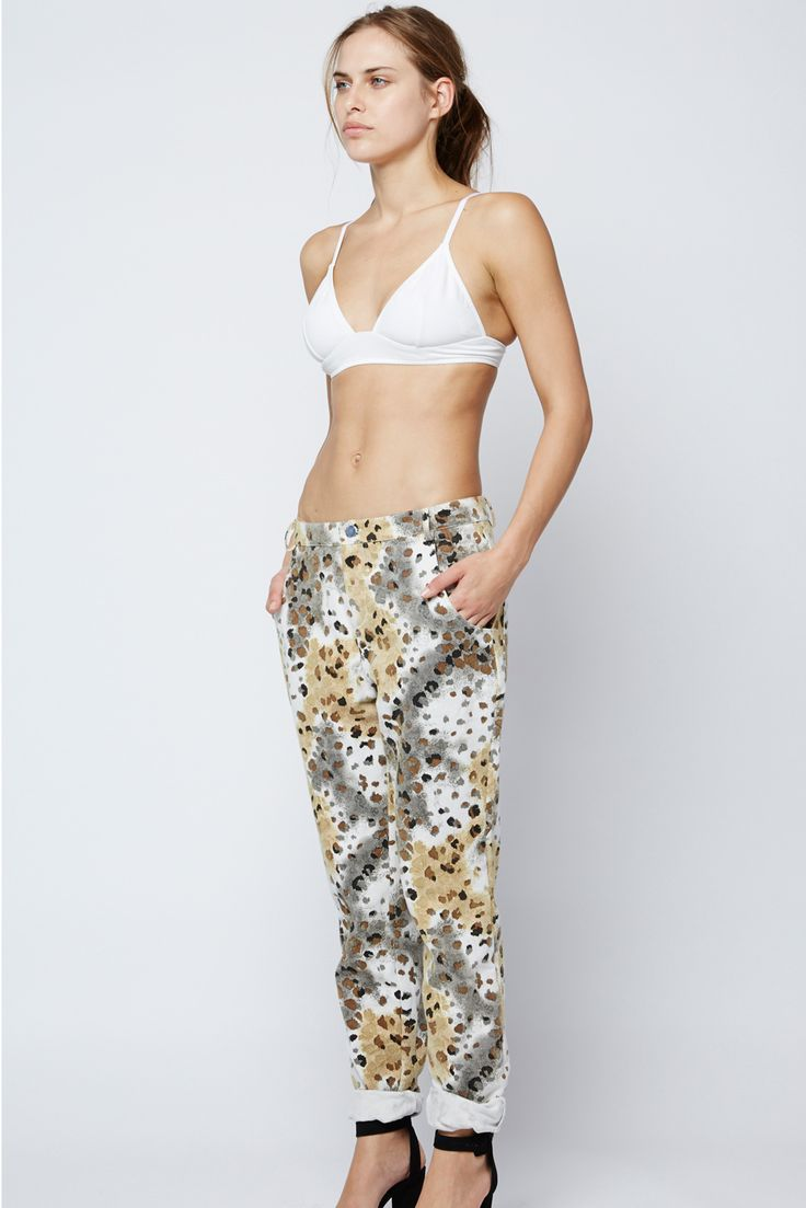 ZULU & ZEPHYR - Earth Leopard Boyfriend Pants