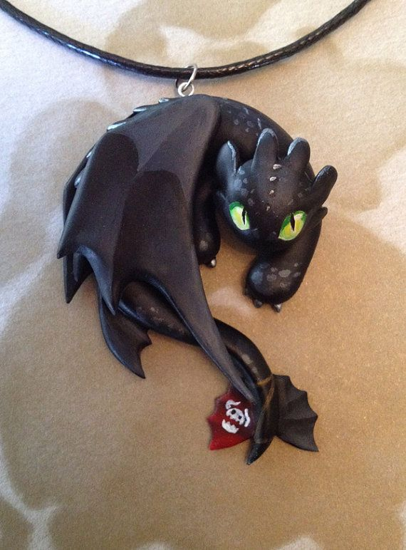 Toothless Necklace by Gatobob on Etsy