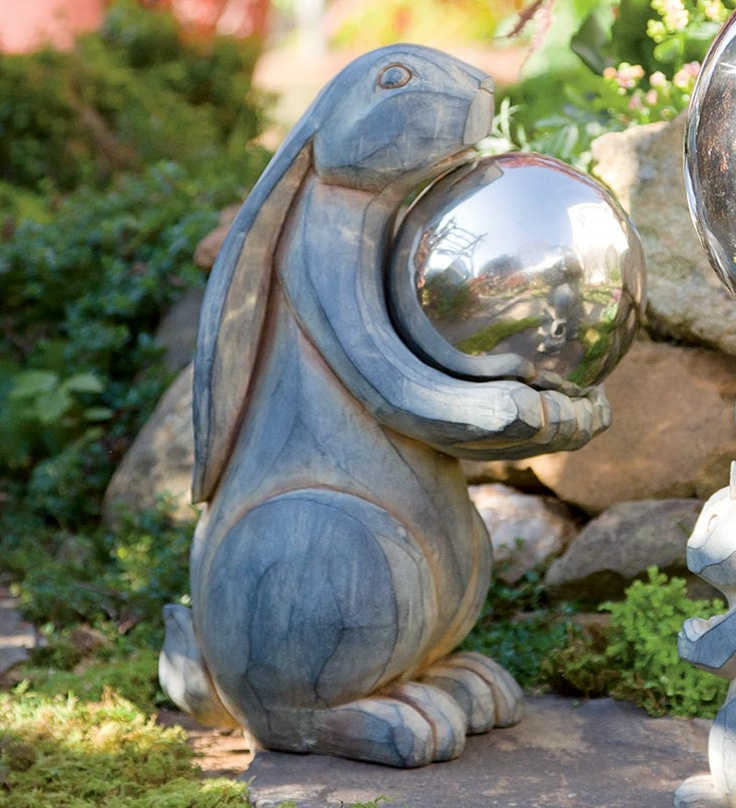 Woodland Animal Garden Statues And Gazing Ball Holders