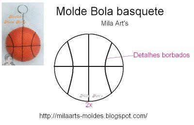Molde bola de basquete