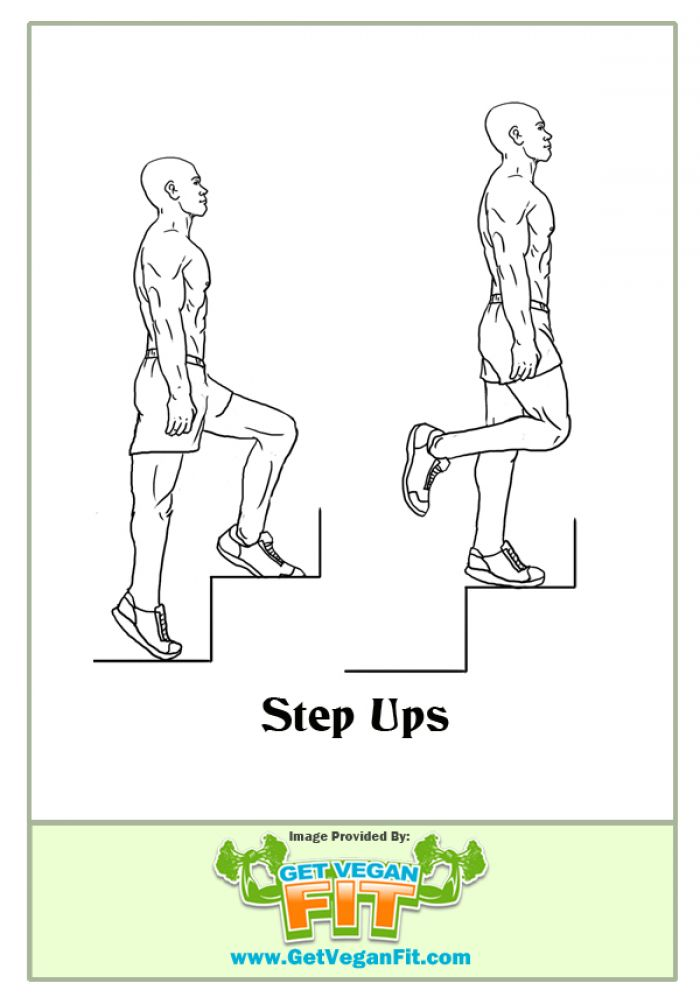 Step Ups Heart Pumping Cardio Exercise Illustration