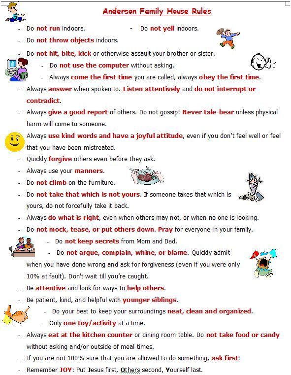 picture relating to House Rules for Kids Printable called Printable Penalties Pictures - Opposite Seem