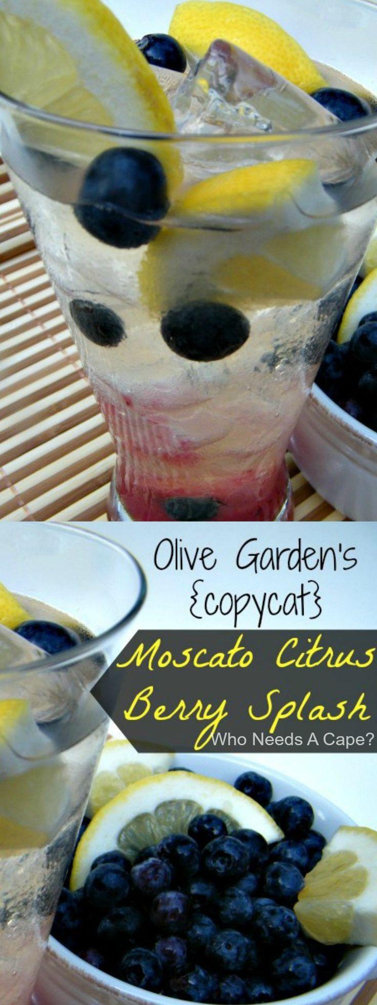 Olive Garden's {copycat} Moscato Citrus Berry Splash is a fantastic summertime cocktail, just like the restaurant version!