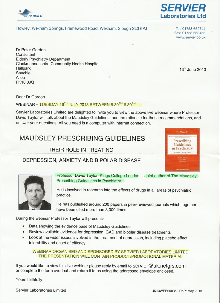 Prof David Taylor, joint author of Maudsley Prescribing