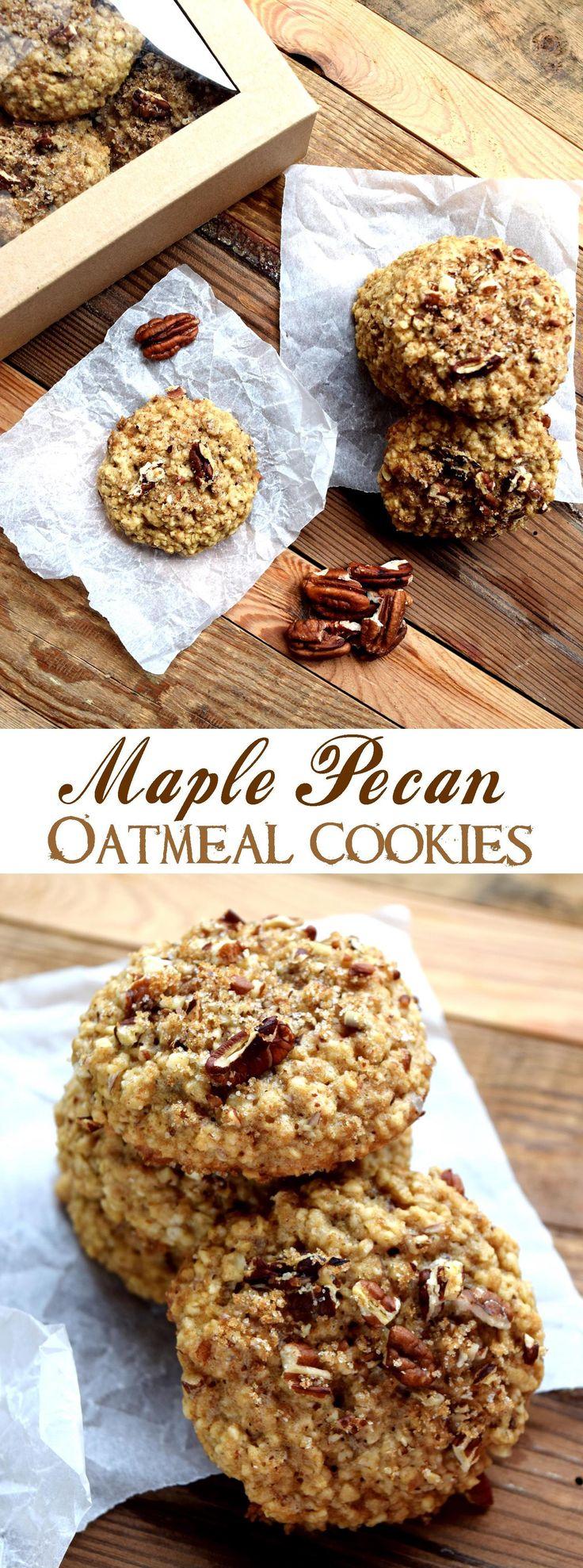 Maple Pecan Oatmeal Cookies