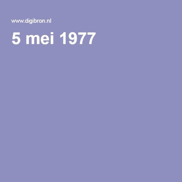 5 mei 1977 Heemtuin Geldermalsen