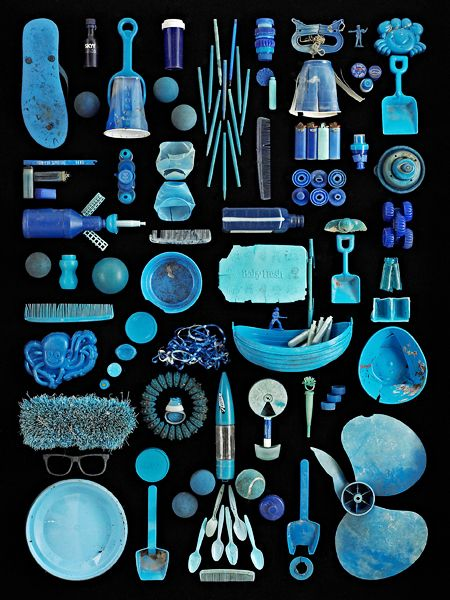 Blue Ocean, found in nature par Barry Rosenthal #photo #flatlay
