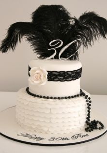 black white lace pearl cake - Bing Images