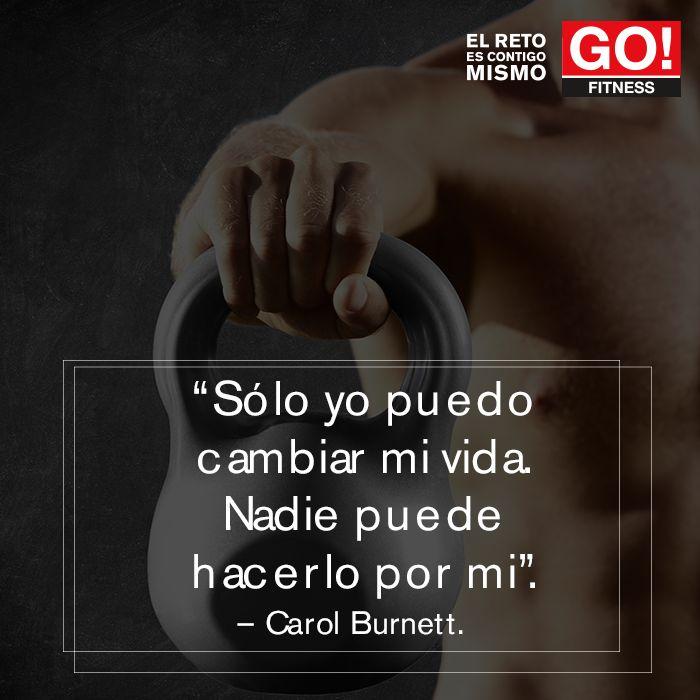 Carol Burnett. #gofitness #clasesgo #ejercicio #gym #fit #fuerza #flexibilidad #reto #motivate #carolburnett #frases