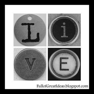 Full of Great Ideas: Live, Love, Hope, Pray Art - Free Printable