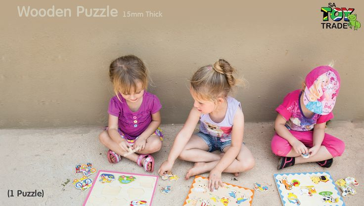 Two toys in one! This innovative puzzle feature thick, chunky wooden pieces that fit neatly into the puzzle board and can also stand up for pretend play! These high quality flat puzzles are all 15mm thick with colourful appropriate pictures under each piece. Encourages hand-eye, fine motor and creative expression skills. Ages 18 months +.