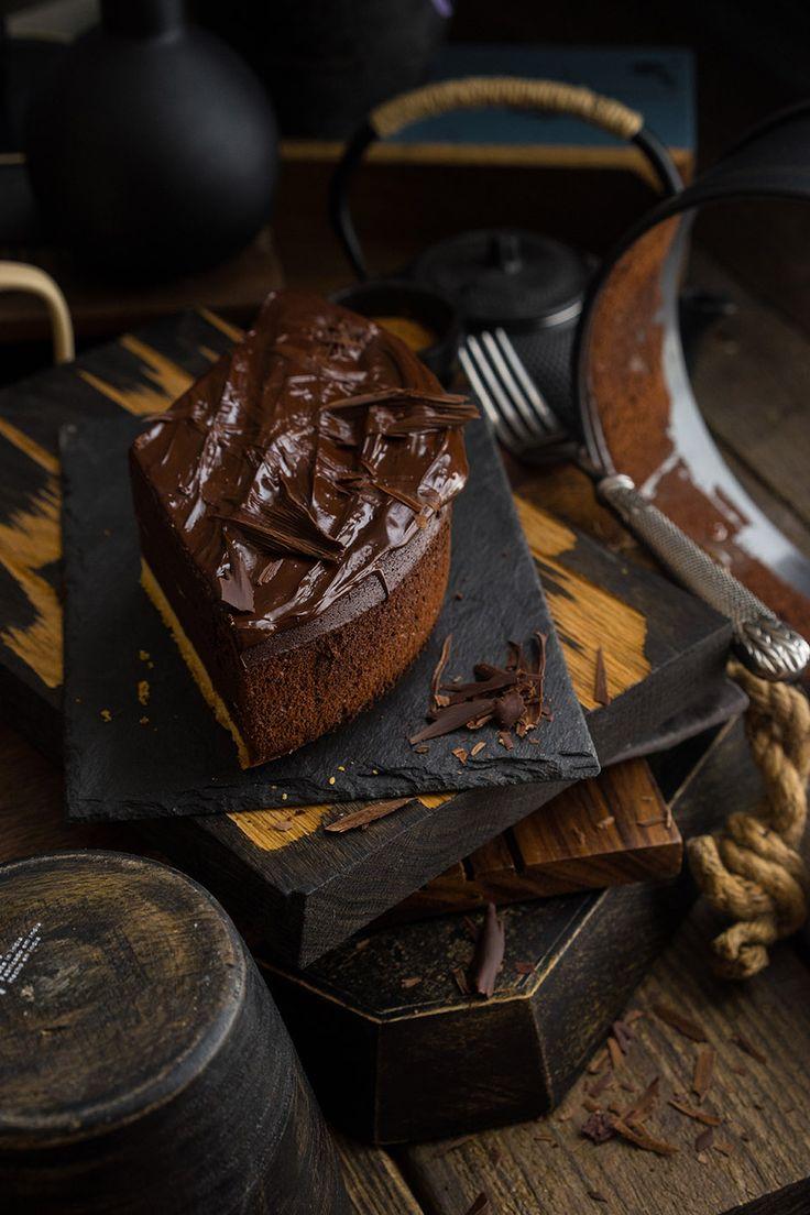 Шоколадный мусс с песочным печеньем