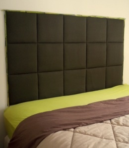 DIY Foam Headboard.... Umm yes. This will be in the boys room.