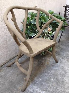 Faux Bois Chair Designed By Colvin And Hastings Designs. #Faux Bois #Google  Faux