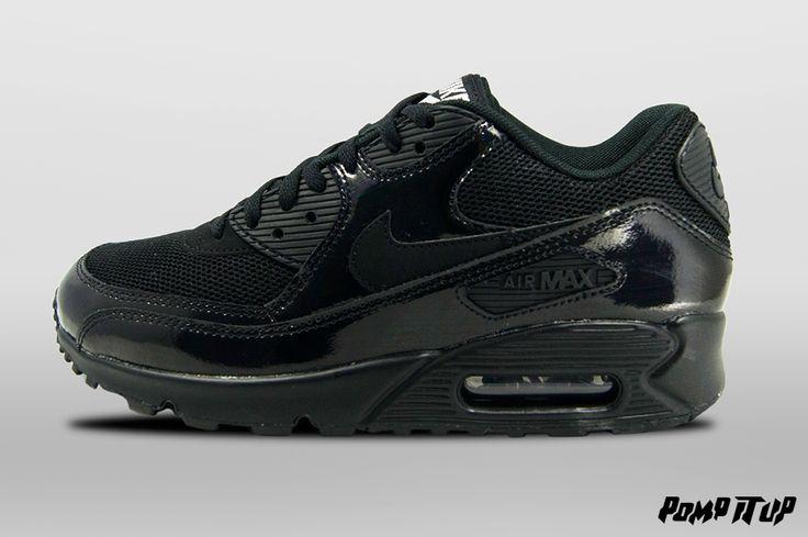 Nike Air Max 90 Premium (Black/Black-Metallic Silver) For Women Sizes: from 36 to 42 EUR Price: CHF 180.- #Nike #AirMax90 #AirMax #NikeAirMax #NikeAirMax90 #AirMax90Premium #Sneakers #SneakersAddict #PompItUp #PompItUpShop #PompItUpCommunity #Switzerland