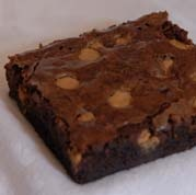Fudge Brownies with Peanut Butter Chips; For those chocolate and peanut butter addicts