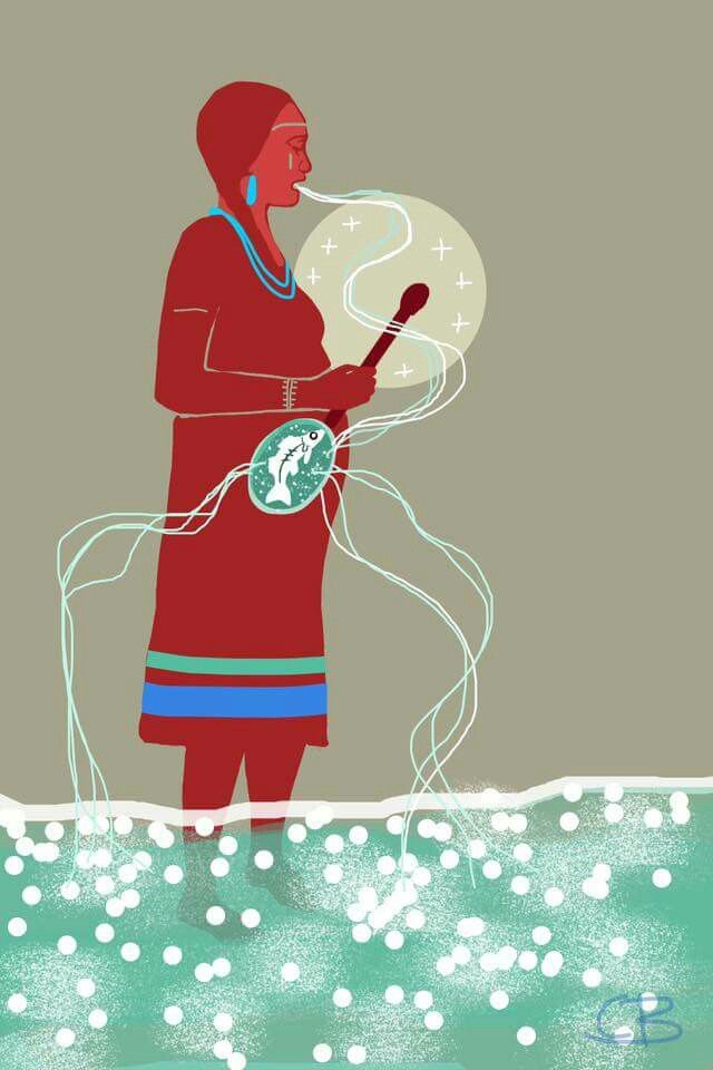 By Canadian Metis Artist Christi Belcourt