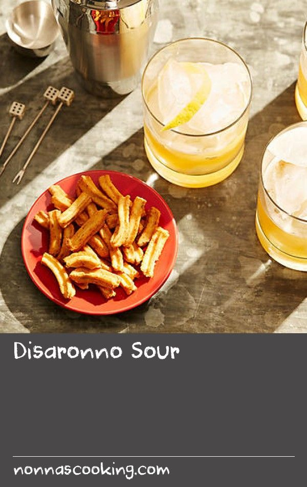 Disaronno Sour | Tart and refreshing, this drink relies on only two ingredients, so make them count. Use freshly squeezed lemon juice (opt for sweet Meyer lemons or lemonade fruit, when in season during the cooler months) for the best result. If your lemons are too sour, you can add a dash of sugar syrup.  A traditional sour is made with eggwhite but we've omitted it here so the nutty flavour of the amaretto shines through.