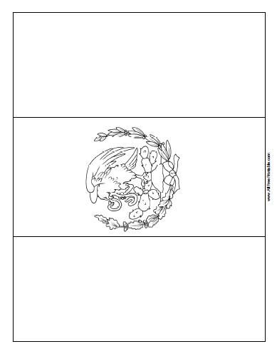 Free Printable Mexico Flag Coloring Page Central America
