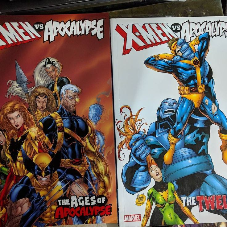 X men vs apocalypse tpb vol 1 y 2 en ingles. #xmen #apocalypse #comics