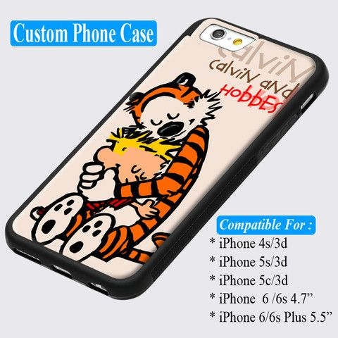 Calvin and Hobbes Embrace Bumper