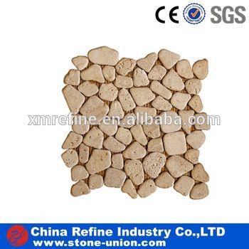 Natural beige slate stone mosaic factory