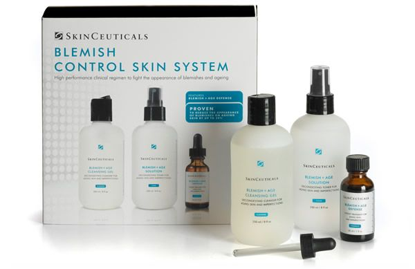 Effectively treat problem skin with the new SkinCeuticals Blemish Control Skin System now available at Effortless Skin