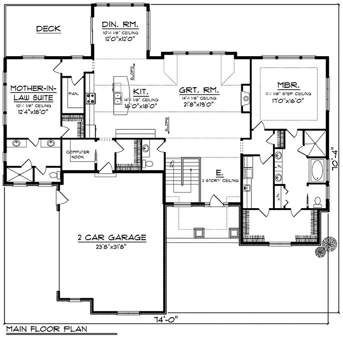 Ranch Style House Ranch House Plans House Floor Plans Craftsman House