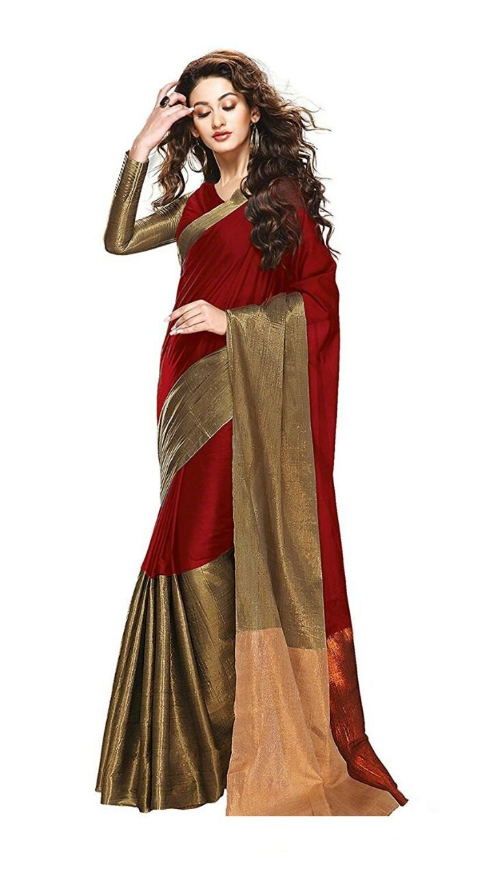 Hurry up.. Limited time offer..  Beautiful saree with unstitched blouse. . Fabric: cotton Price: Only 450 rs. . To BUY.. Just Whats app on : 9427915502