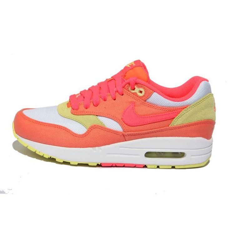 com for nikes OFF - Womens Nike Air Max 1 Melon Crush Hot Punch White  Yellow Diamond Shoes