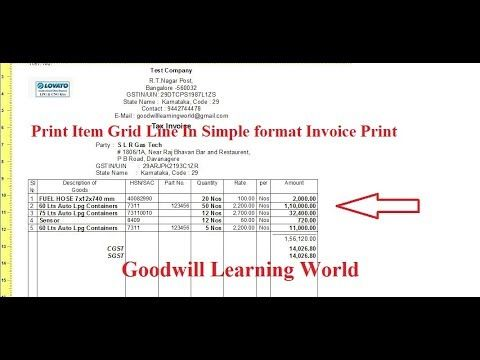 Tally Tdl For Background Line Print In Simple Format Invoice Print