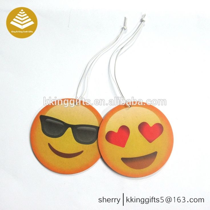 Emoji smile face car air freshener hanging oem paper air freshener deodorante per auto with own logo