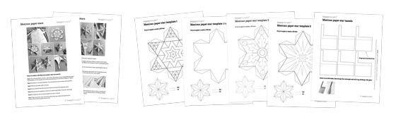 Как сделать мексиканские бумаги звезды украшения - Версия для печати + дети деятельности ремесленных шаблоны!