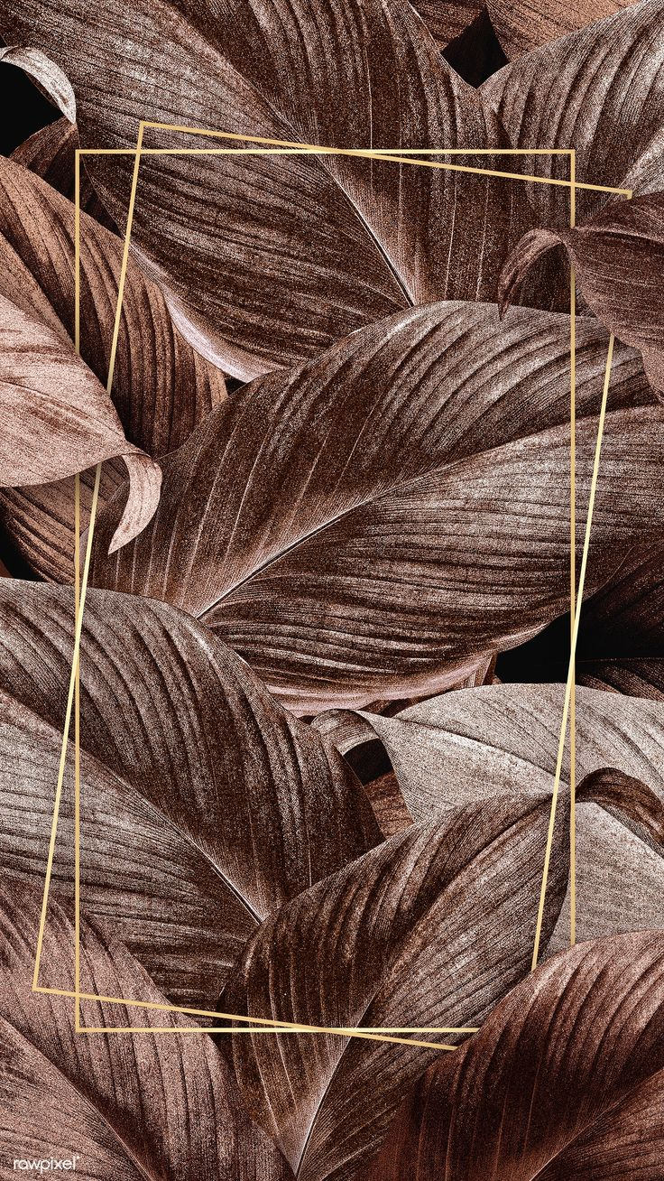 Download premium illustration of Bronze tropical leaves patterned poster – the yvolutionist