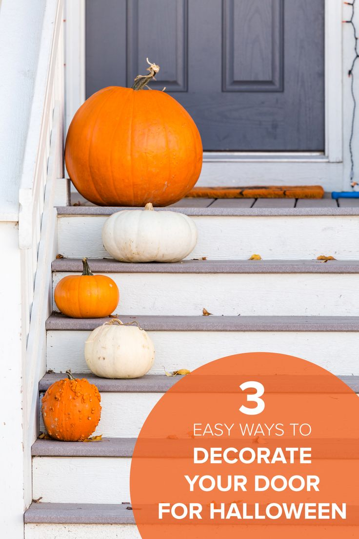 3 easy ways to decorate your front door this halloween - Ways To Decorate For Halloween