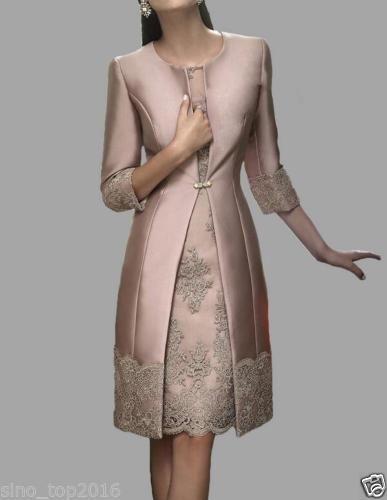 Encaje Largo madre de la novia vestidos boda vestidos de traje chaqueta vestidos de noche