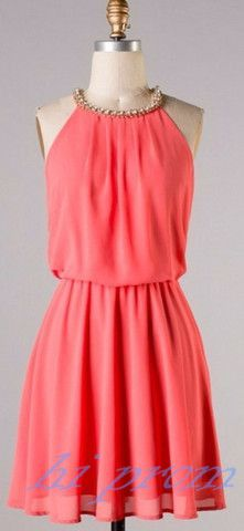Coral Homecoming Dress,Homecoming Dresses with Rhinestone,Cute Homecoming Dress,Blue Homecoming Dress,Short Prom Dress,A Line Homecoming Gowns,Chiffon Sweet 16 Dress,Evening Gown,Parties Casual Dress
