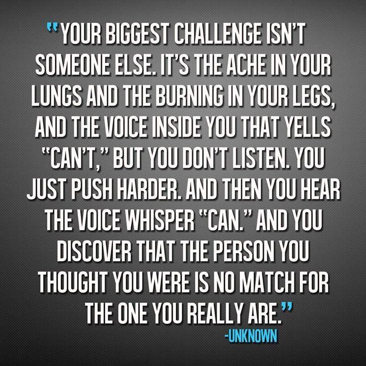 Your biggest challenge isn't someone else...