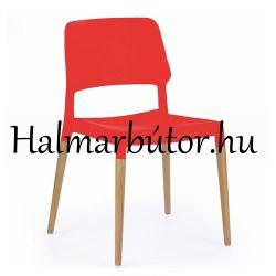 K163 Műanyag szék Piros