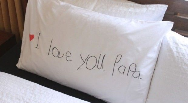 Awwwwww. I Love You, Daddy Pillowcase: Simple Father's Day Gift | CBC Parents