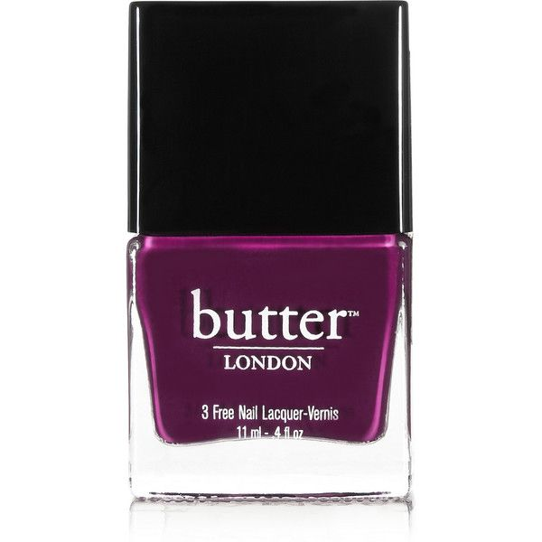 Butter London Nail Polish - Queen Vic ($15) ❤ liked on Polyvore featuring beauty products, nail care, nail polish, nails, beauty, makeup, fillers, polish, purple and butter london nail polish