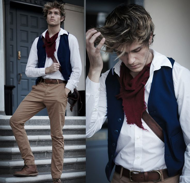 Adam Gallagher - Diy Scarf, Thrifted Vest, Viparo Backpack, Canvas Lands End Belt, Tigerofsweden Trousers - Les Miserables Inspired | LOOKBOOK