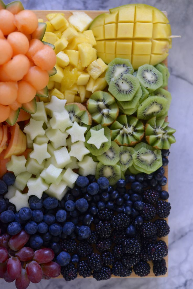 The Fruit Salad You Need to Serve at Your Next Party. A rainbow-inspired fruit salad for Memorial Day.