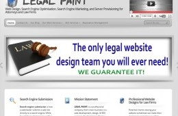 Showcase site for a company specialising in legal SEO and marketing
