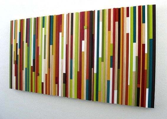 Contemporary Wall Art Wood Sculpture Wood Wall by ModernRusticArt, $525.00