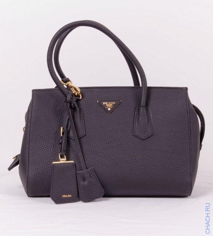 Сумка Prada CALF LEATHER TOP-HANDLE BAG черная из натуральной кожи