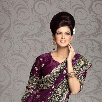 Violet Net Fishtail Lehenga Choli With Dupatta Online Shopping: LDE69