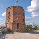 Gedimina's Tower  is the remaining part of the Upper Castle. It is depicted on the national currency, the litas, and is mentioned in numerous Lithuanian patriotic poems and folk songs. The Flag of Lithuania was re-hoisted atop the tower on October 7, 1988, during the independence movement. An observation deck on the top of the tower is the best place from which to appreciate a magnificent panorama of Vilnius.