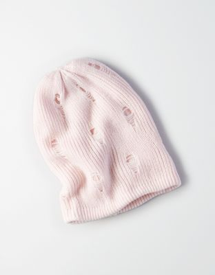 AEO Destroyed Beanie by  American Eagle Outfitters | Messy hair don't care. Hats for good hair days, bad hair days … all of the days. Messy hair don't care. Hats for good hair days, bad hair days … all of the days.  Shop the AEO Destroyed Beanie and check out more at AE.com.