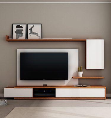 Mueble TV para Sebastian | a | Bedroom tv wall, Tv wall design, Tv ...